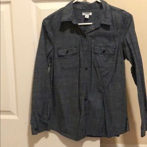 New without tags denim colored button up